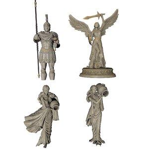 3D statue pack model