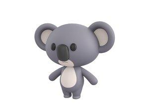 koala character 3D model