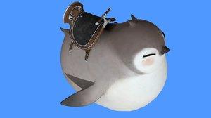penguin rig 3D model