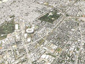 3D model cityscape budapest capital city