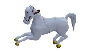 3D model horse animal