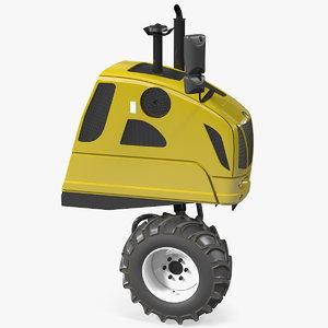 harvester vehicle 3D model