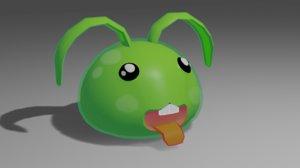 3D cute slime bunny