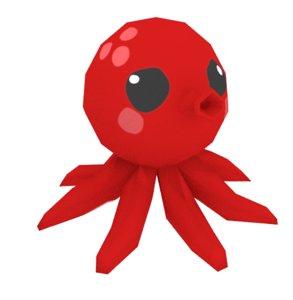 octopus cute 3D model