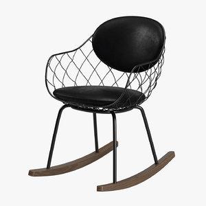 chair furniture furnishing 3D model