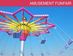 3D funfair toys park