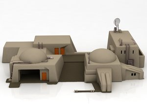 star wars architecture sci-fi building 3D model