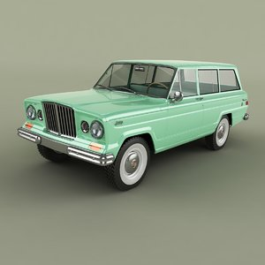 3D 1963 jeep wagoneer 2-door
