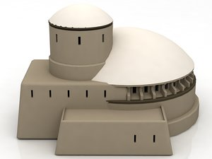 mos eisley architecture sci-fi building 3D model