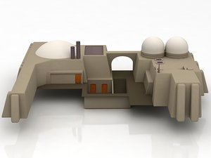 mos eisley architecture sci-fi building model