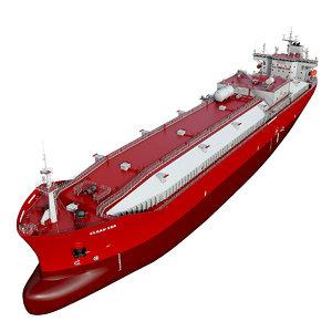 3D vessel tanker model