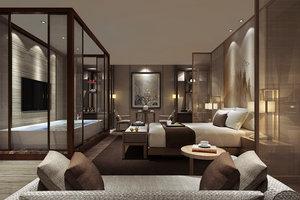 3D bedroom interiors