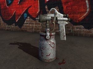 3D vintage devilbiss paint spray gun