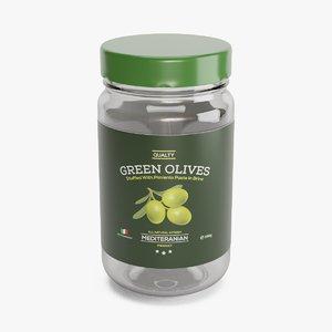 3D clear glass jar