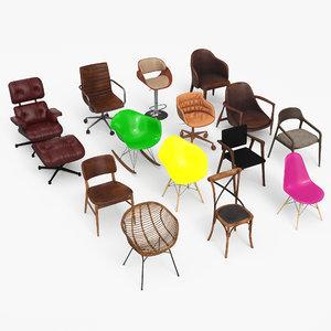 3D chair eames - armchair