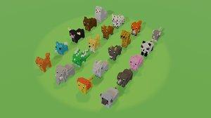 3D voxel animals
