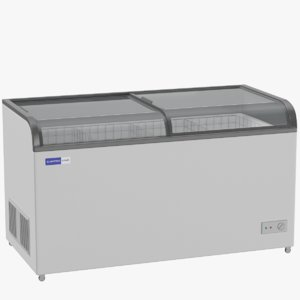 3D model supermarket chest freezer