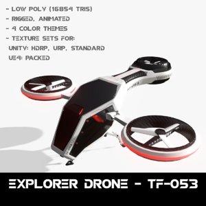 3D drone - model