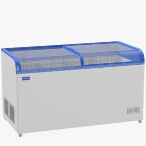 supermarket chest freezer 3D model