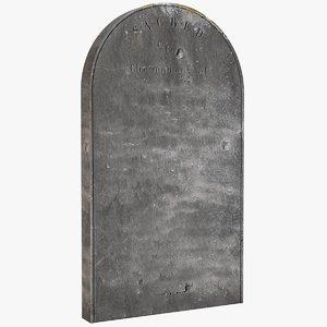 3d tombstone dug model