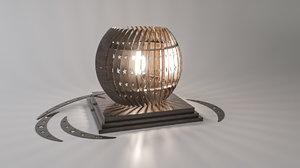 3D model woodlamp