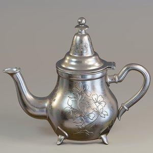 3D teapot moroccan