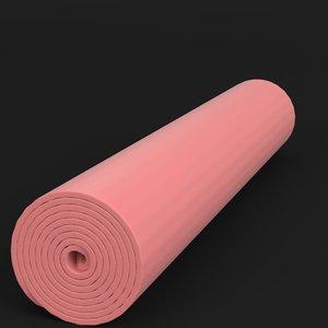 rolled yoga mat 3D model
