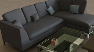 sofas cushions candle model