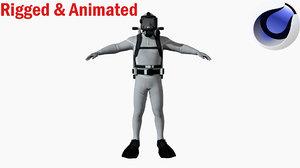3D diver dive
