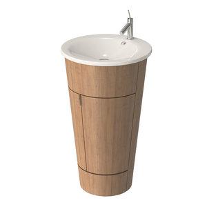 starck washbasin wooden 3D model
