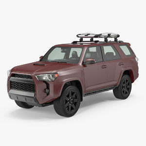suv 4x4 roof rack 3D model