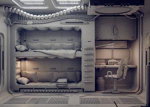 3D scifi sci fi model