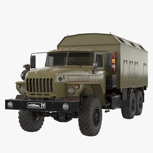 ural russia army 3D model