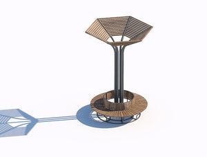 3D wooden sunshade