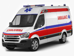 3D model generic ambulance er