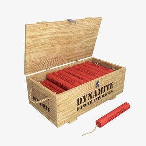 3D dynamite box model