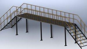 3D steel walkway structures
