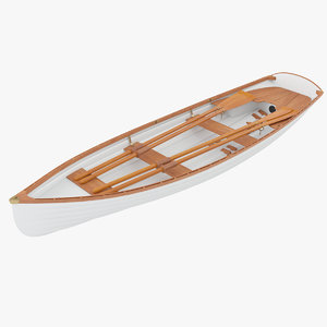 boat row rowboat 3D