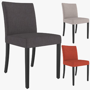 lowe cloth dining chair 3D model
