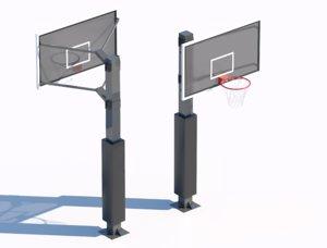 3D ball basketball basket model