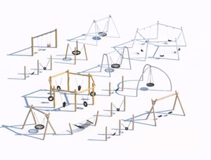 3D swinging architecture playground model