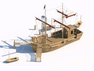 3D playground wooden model