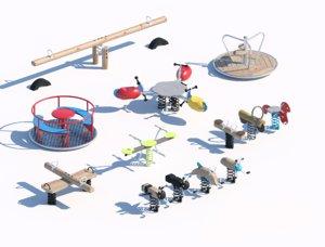 children child equipment 3D model