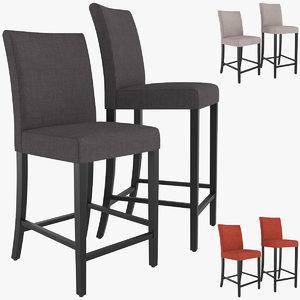 lowe cloth bar stool 3D model