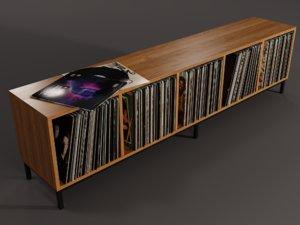 vinyl lp storage 3D model
