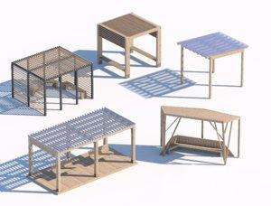 wooden summerhouse 3D