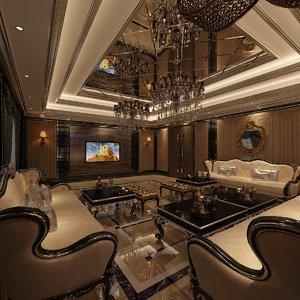 lounge karaoke room 3D model