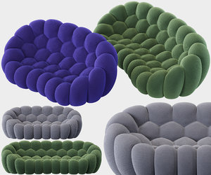 3D curved 2 5-seat 4-seat