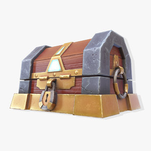 3D stone gold chest