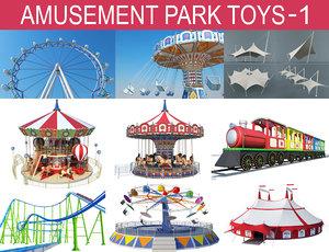 amusement park toys 3D model